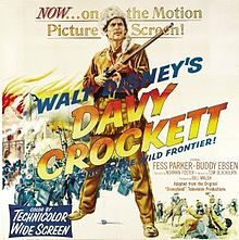 poster Davy Crockett King of the Wild Frontier (1955)