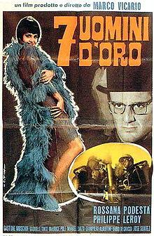 poster 7 uomini d'oro (1965)