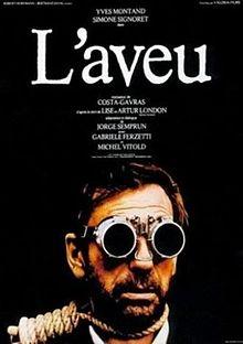 poster L'aveu (1970)