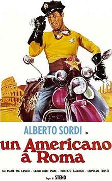 poster Un americano a Roma (1954)