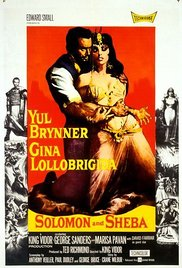 poster Solomon and Sheba (1959)