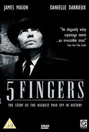 poster 5 Fingers Aka L'affaire (1952)