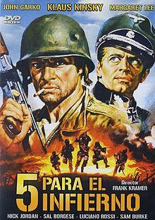 poster 5 per l'inferno (1969)