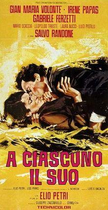 poster A Ciascuno il Suo (1967)