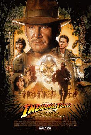 poster film Indiana Jones si regatul craniului de cristal