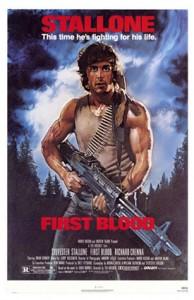 poster film first blood - rambo 1 - rambo I