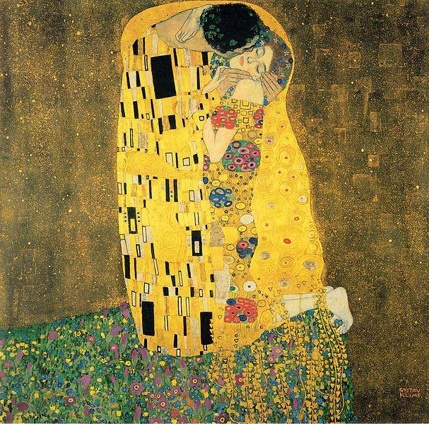 pictura - Gustav Klimt - Sarutul - Der Kuss