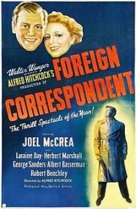 poster Film - Corespondent in strainatate - Foreign Correspondent (1940)