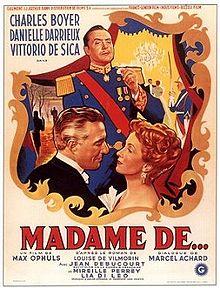 poster Film - The Earrings of Madame de... - Madame de... (1953)