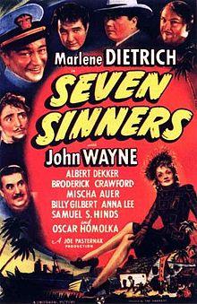 poster Seven Sinners (1940)