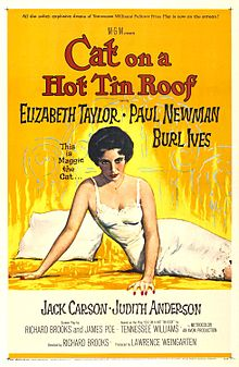 poster Cat on a Hot Tin Roof (1958)