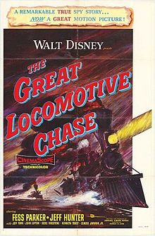 poster The Great Locomotive Chase (1956)