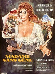 poster Madame Sans-Gêne (1961)