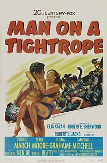 poster Man on a Tightrope (1953)