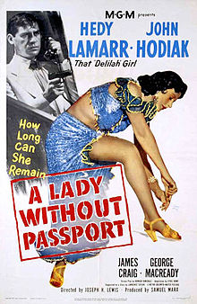 poster A Lady Without Passport (1950)