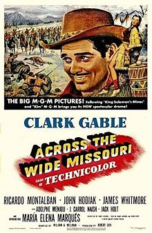 poster Across the wide Missouri (1951)
