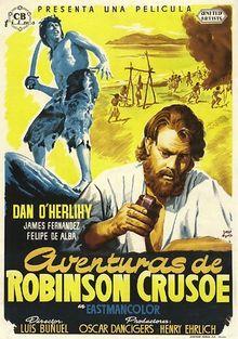 poster Aventuras de Robinson Crusoe (1954)