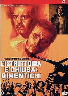 poster L'istruttoria e chiusa, dimentichi (1971)