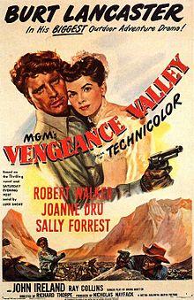poster Vengeance Valley (1951)