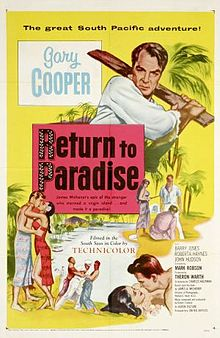 poster Return to Paradise (1953)