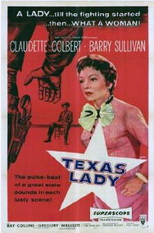 poster Texas Lady (1955)