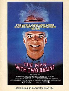 poster The Man with Two Brains (1983)