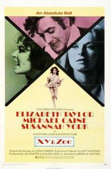 poster Zee and Co. aka X, Y and Zee (1972)