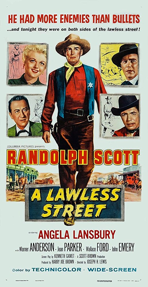 poster A Lawless Street (1955)