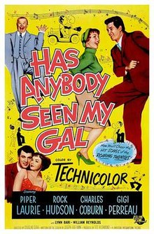 poster Has Anybody Seen My Gal (1952)