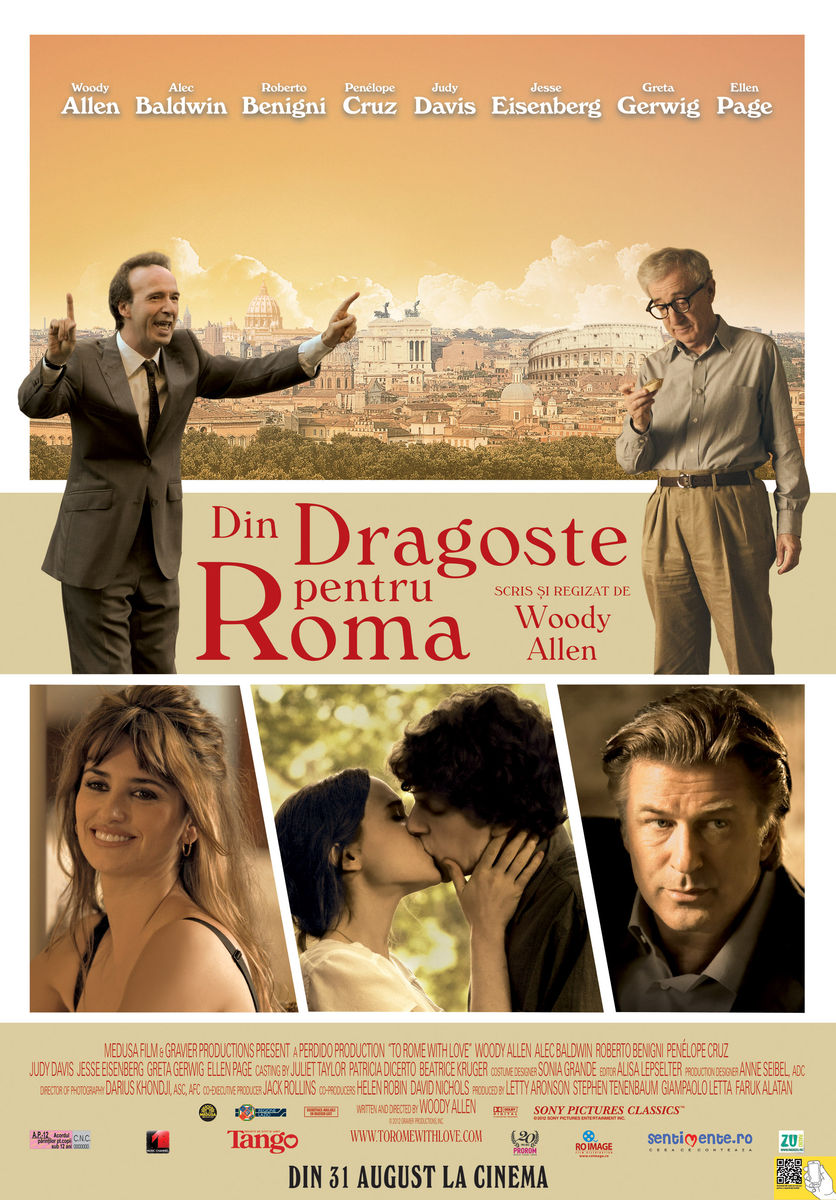 poster To Rome with Love (2012)