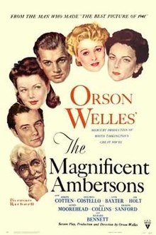 poster The Magnificent Ambersons (1942)