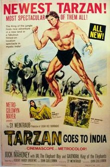 poster Tarzan Goes to India (1962)
