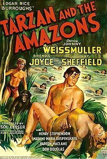 poster Tarzan and the Amazons (1945)