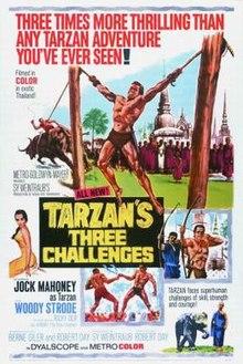 poster Tarzan's Three Challenges (1963)