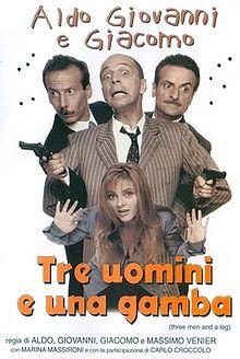 poster Tre uomini e una gamba (1997)