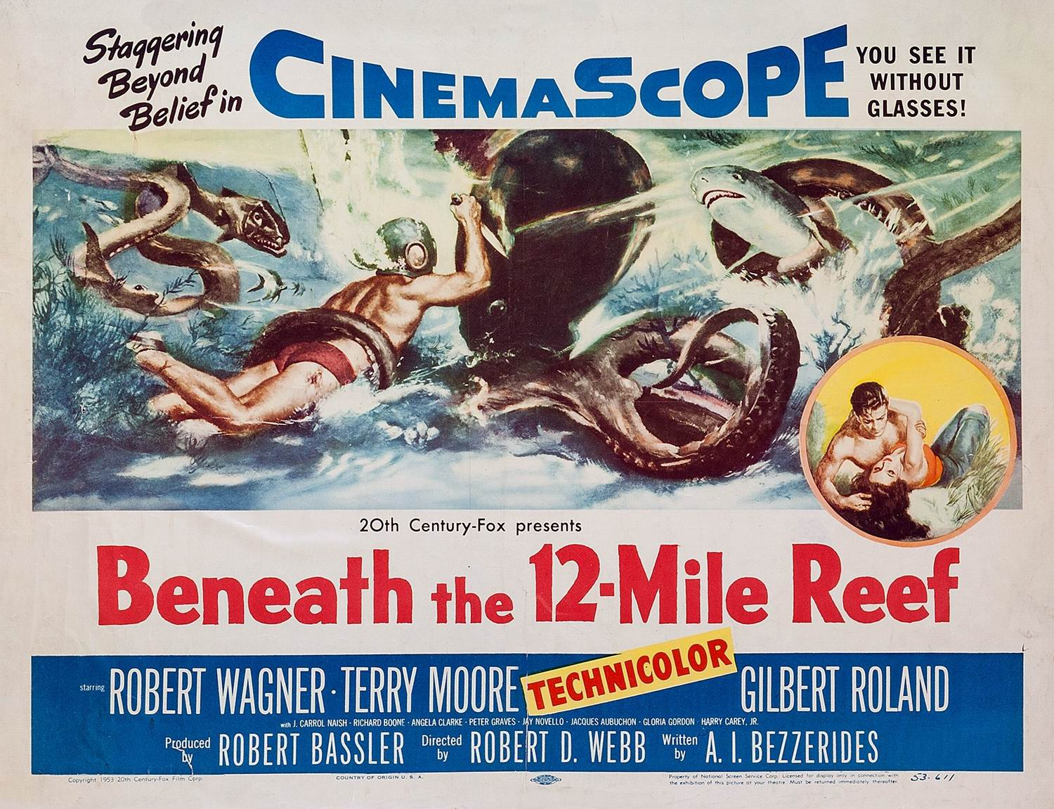poster Beneath the 12 Mile Reef (1953)