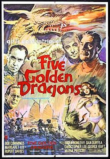 poster Five Golden Dragons (1967)