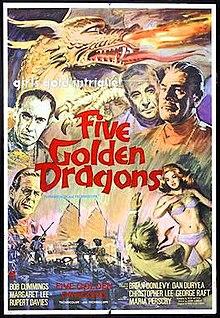 poster Five Golden Dragons (1967)