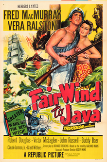 poster Fair Wind to Java (1953)