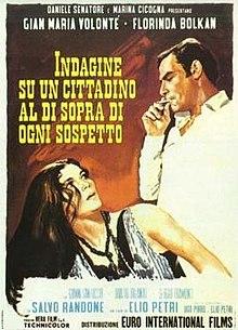 poster Indagine su un cittadino al di sopra di ogni sospetto (1970)