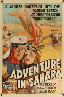 poster Adventure in Sahara (1938)