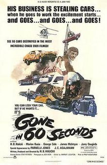 poster Gone in 60 Seconds (1974)