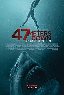 poster 47 Meters Down Uncaged (2019)