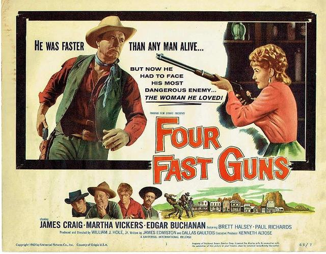 poster Four Fast Guns (1960)