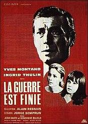poster La Guerre est finie (1966)