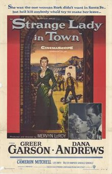 poster Strange Lady In Town (1955)