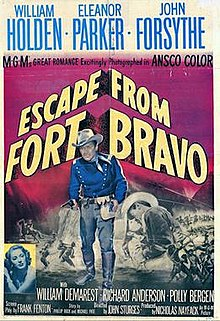 poster scape from Fort Bravo (1953)