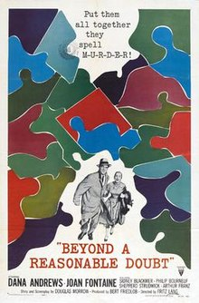 poster Beyond a Reasonable Doubt (1956)