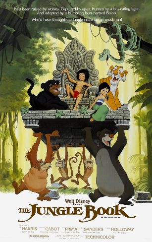 poster The Jungle Book - Cartea Junglei (1967) - Film de animatie