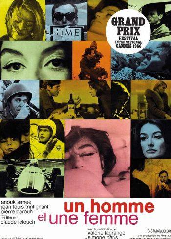 poster film Un homme et une femme - Un bărbat şi o femeie - 1966